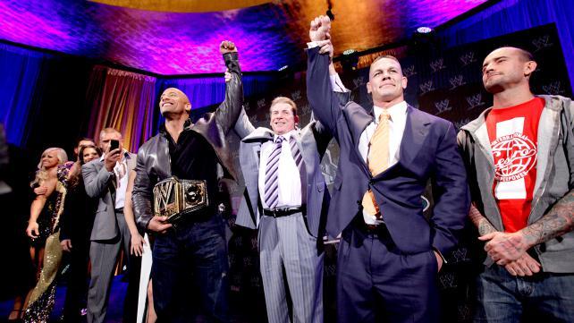 wwe2013摔角狂热大赛29新闻发布会现场 高清图片