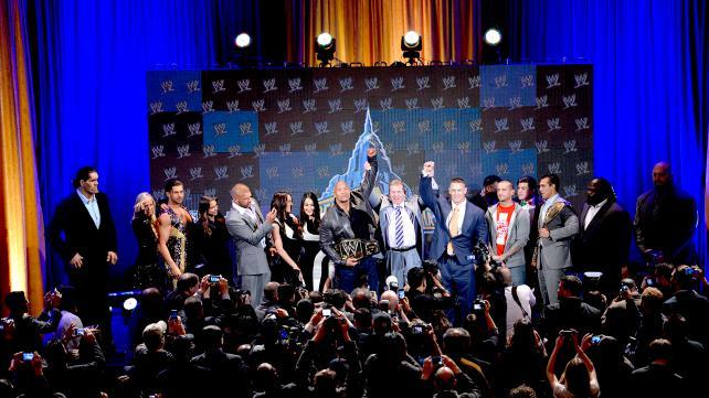 wwe2013摔角狂热大赛29新闻发布会现场 高清图片 2